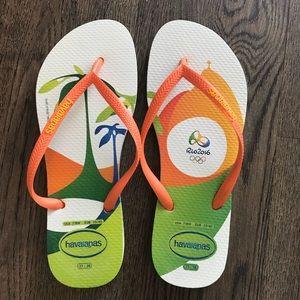 f8516b5681ae Havaianas Shoes - Limited Edition Rio Olympics Havaianas Flip Flops